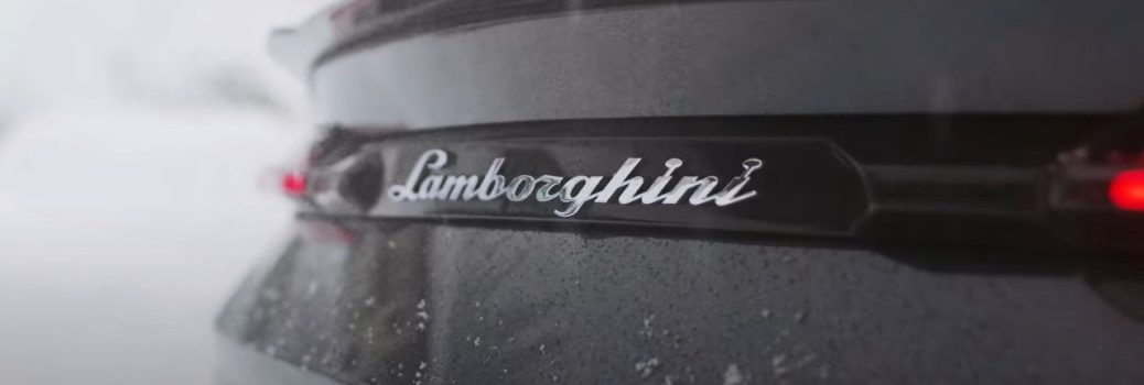 2021 Lamborghini Urus Rear Badging in Snow