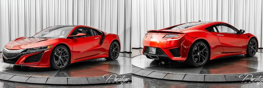 2018 Acura NSX Exterior Driver Side Front Passenger Rear Profiles