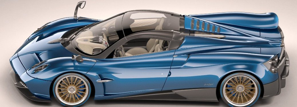2017 Pagani Huayra Roadster Ginevra Exterior Driver Side Front Aerial Profile