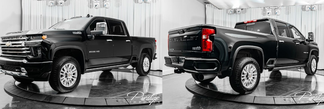 2021 Chevrolet Silverado 2500HD High Country Exterior Driver Side Front Passenger Rear Profiles