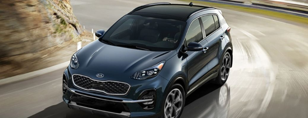 front and top view of the 2022 Kia Sportage