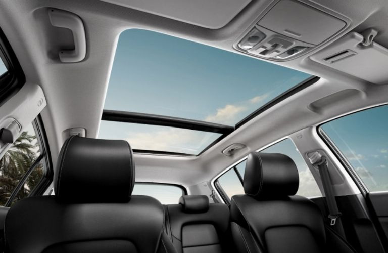 view of the available sunroof of the 2022 Sportage