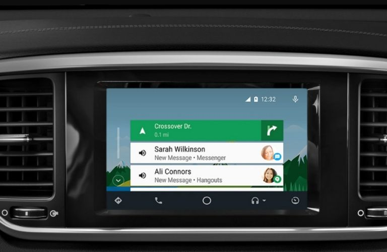 infotainment system displaying directions and call details in the 2022 Kia Sportage
