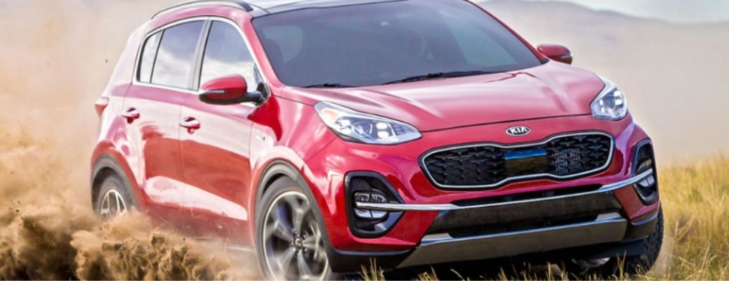 front and side view of the 2022 Kia Sportage