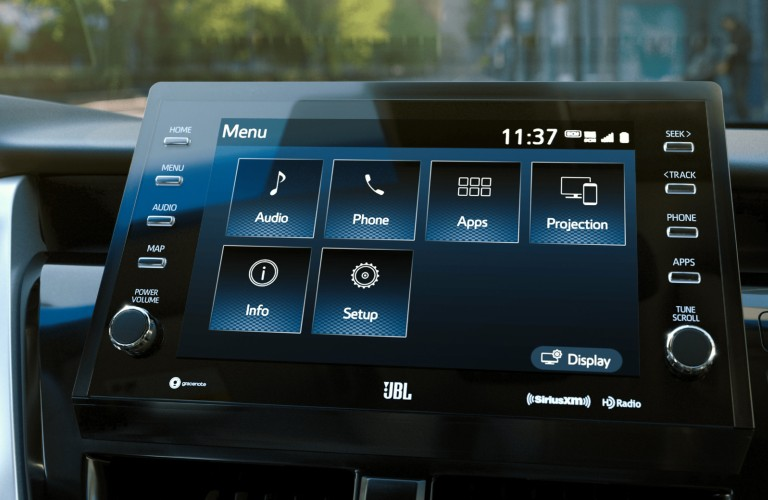 Infotainment system inside the 2021 Toyota Camry