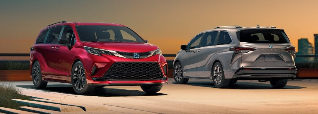 Two 2021 Toyota Sienna vehicles parked by each other