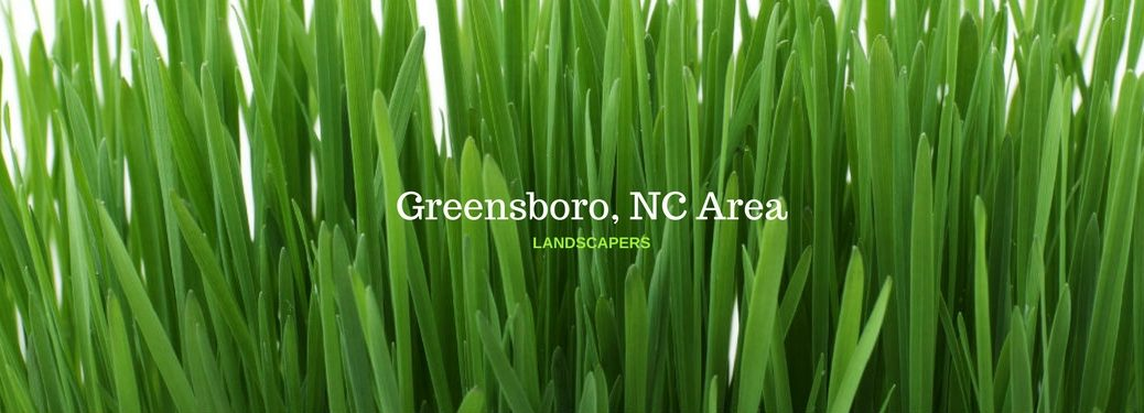 Greensboro, NC Area Landscaper, text on an image of long green grass