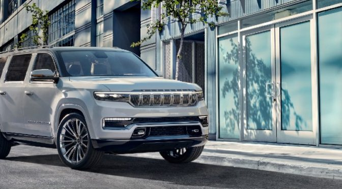 2022 Jeep Grand Wagoneer Concept on city street