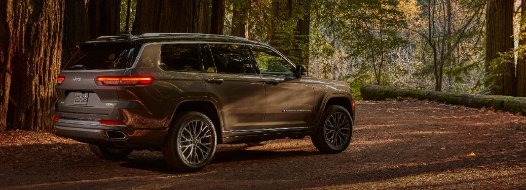 2021 Jeep Grand Cherokee L on forest trail
