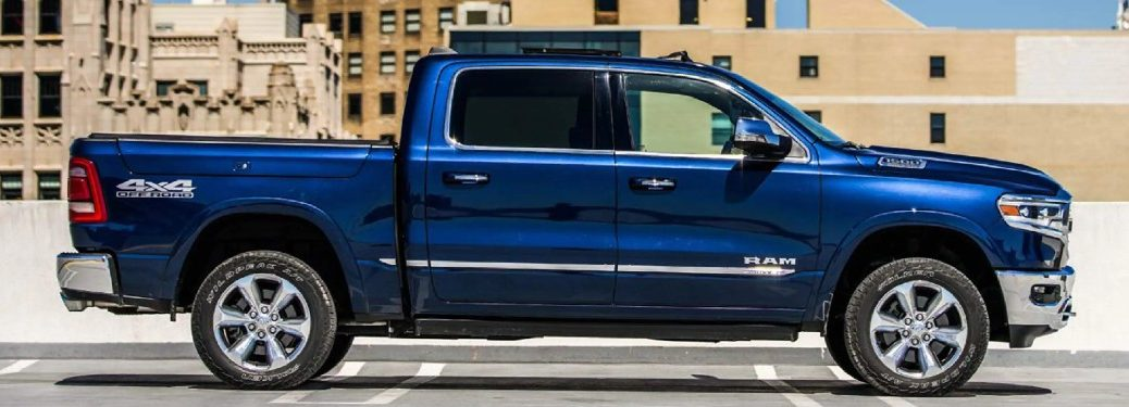 2021 Ram 1500 on parking structure