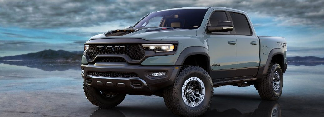2021 Ram 1500 TRX on glossy surface