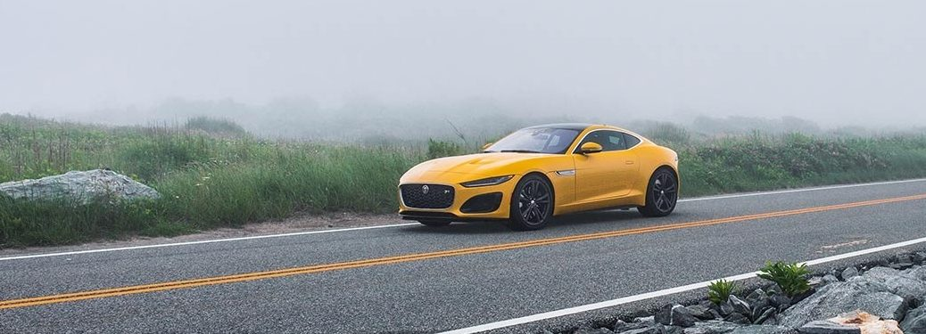 2021 Jaguar F-TYPE going down the road