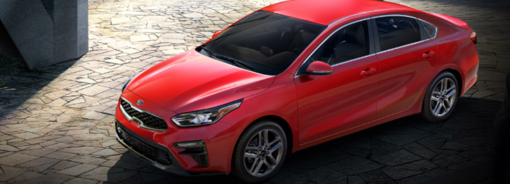 2020 Kia Forte parked outside top view