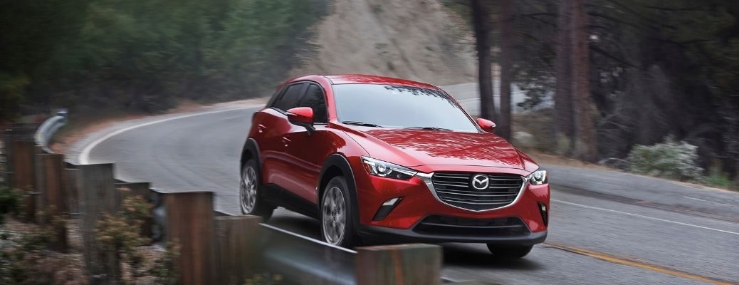 2021 Mazda CX-3 on a road