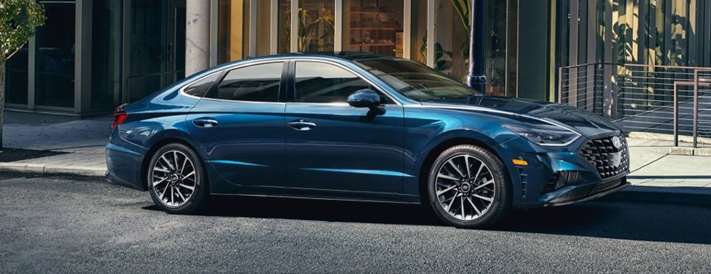 2021 Hyundai Sonata parked on the side of a road