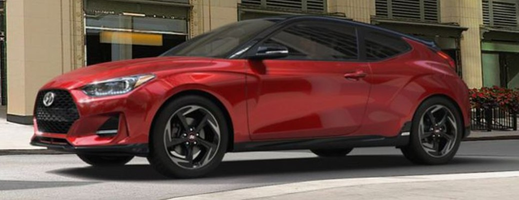 A 2021 Hyundai Veloster on the road