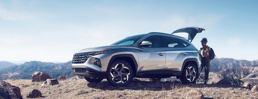 2022 Hyundai Tucson parked on a hilly area