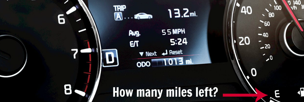 How far can you drive your Kia when the gas light comes on