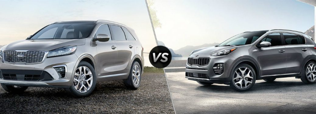 silver kia sorento compared to silver kia sportage