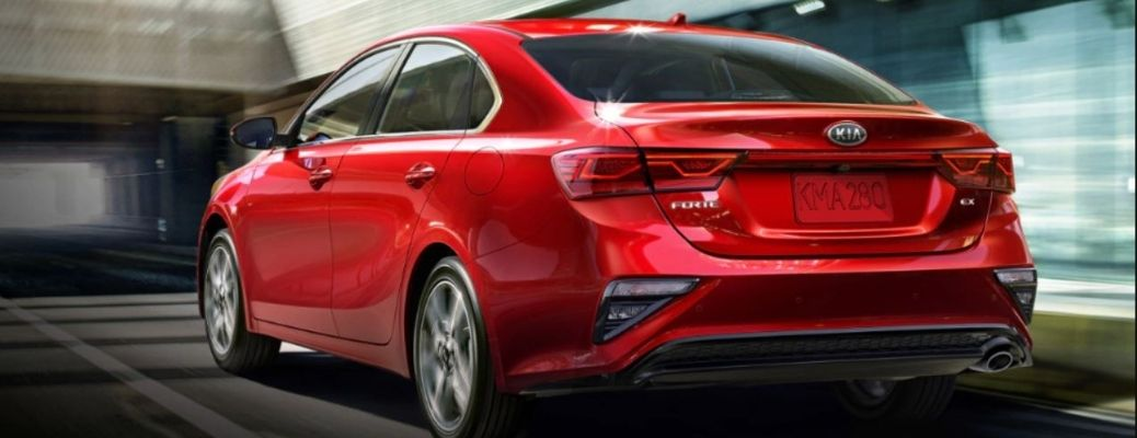 2021 Kia Forte Red Side and Rear View