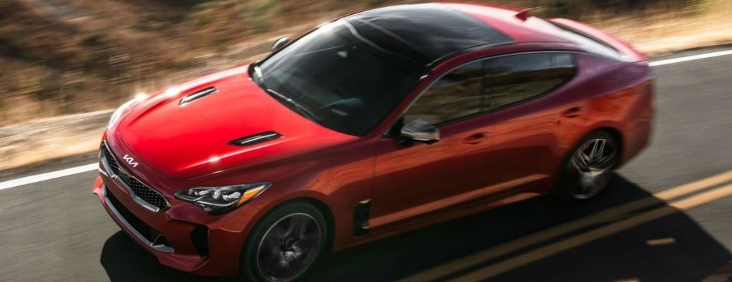 2022 Kia Stinger_Red Front Top and Side View