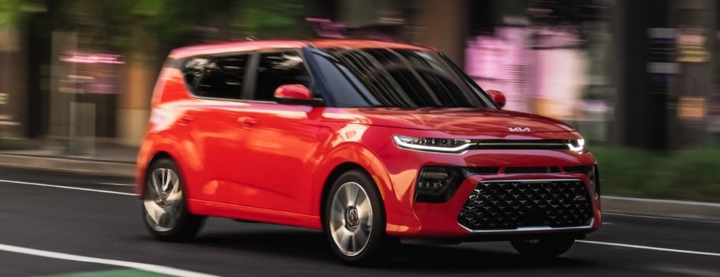 2022 Kia Soul Red Front and Side View