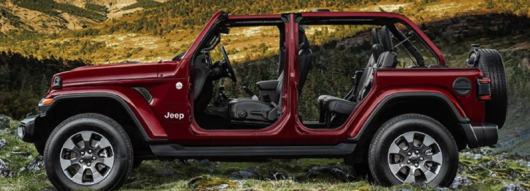 2021 Jeep Wrangler with doors and roof off