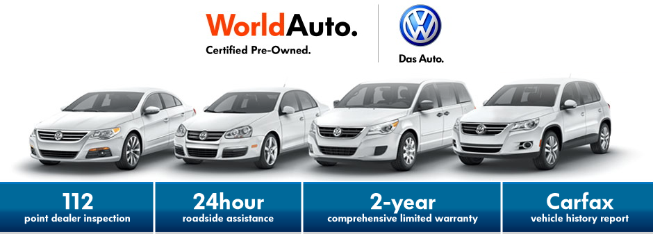 Benefits of WorldAuto Certified Pre-Owned VW models