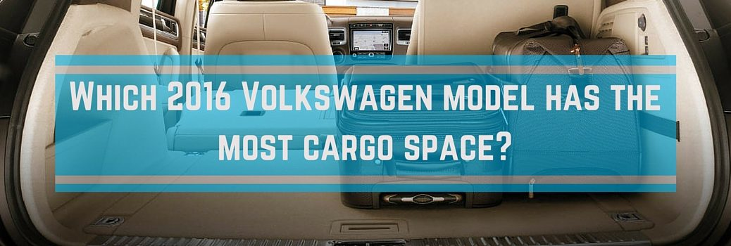 Trunk and interior space in 2016 VW vehicles