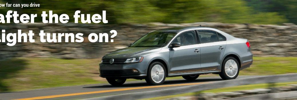 How far can you drive after the VW gas light turns on