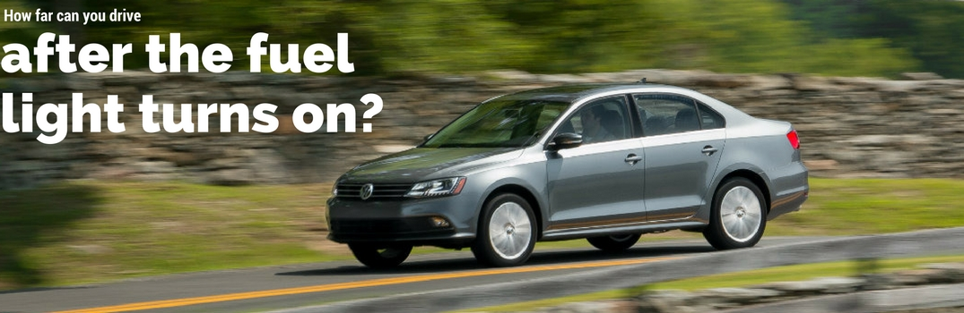 How far can you drive after the VW gas light turns on?