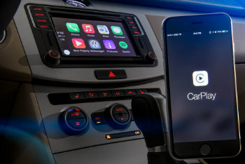 Phone connected to Apple CarPlay