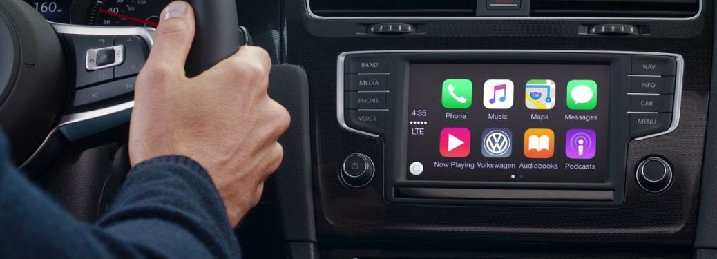 Volkswagen display connected to Apple CarPlay