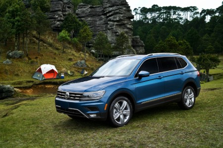2019 Volkswagen Tiguan parked by river