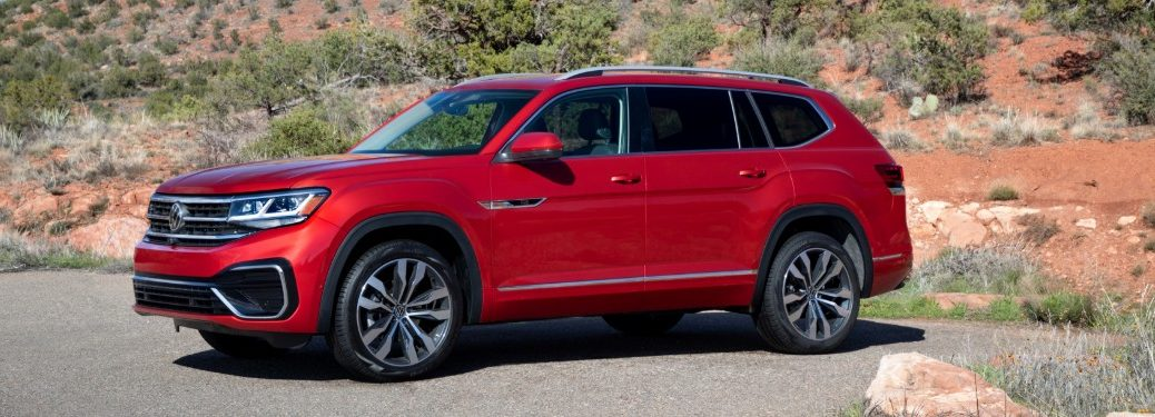 2021 Volkswagen Atlas exterior side red