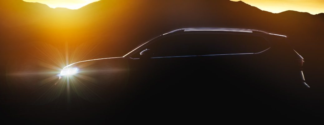 A silhouetted photo of the Volkswagen ID.4.