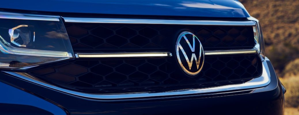 The grille of a VW crossover SUV.