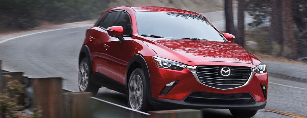 2021 Mazda CX3 driving on road