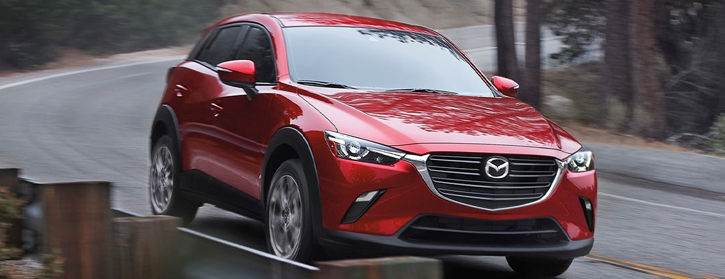 2021 Mazda CX-3 driving on road