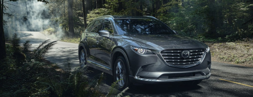 2021 Mazda CX-9 driving through forest