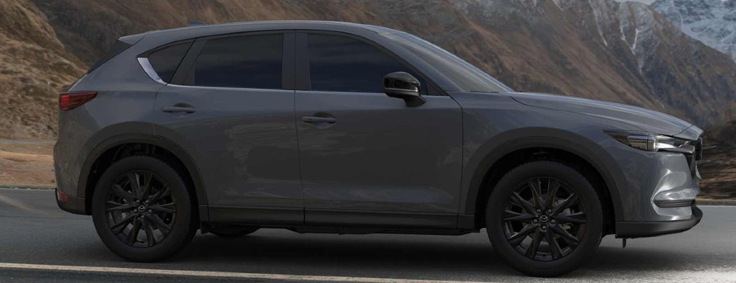 Side view of the 2021 Mazda CX-5 carbon edition