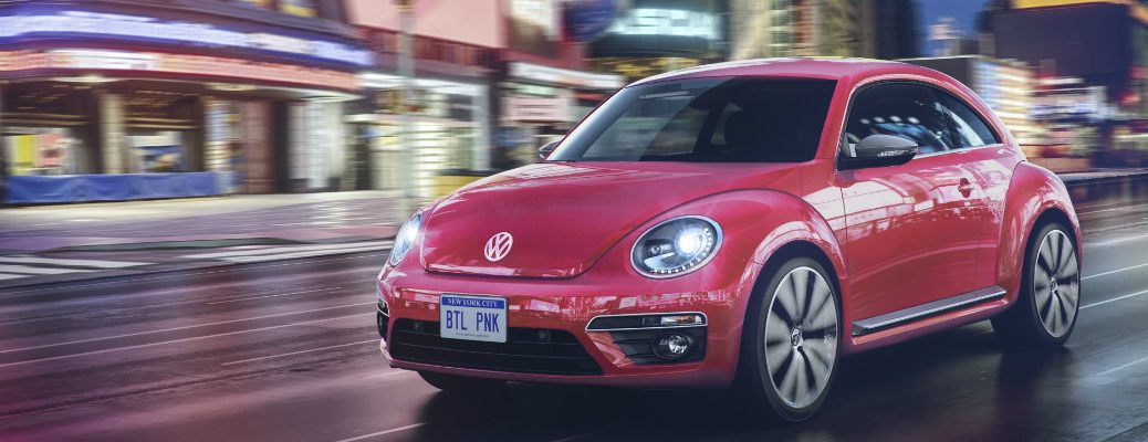 front exterior design on the 2017 pink vw beetle
