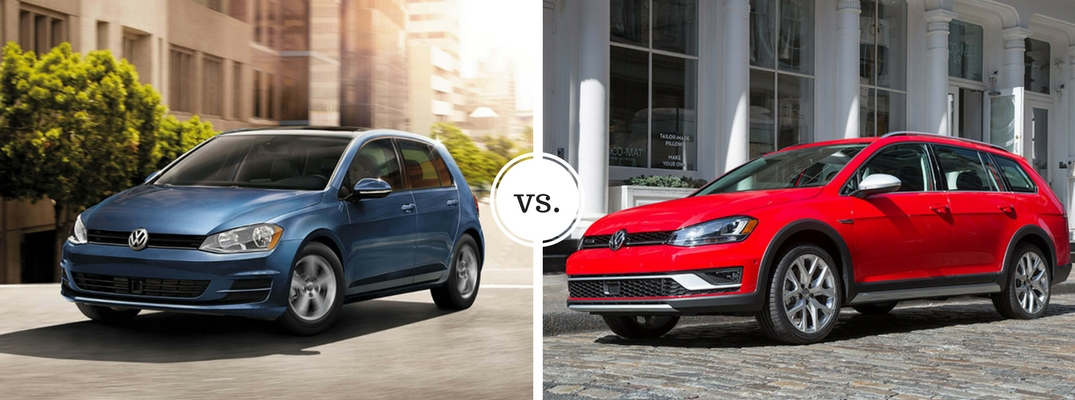 2017 Volkswagen Golf vs 2017 Volkswagen Golf Alltrack