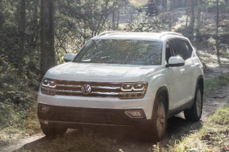 2018 Volkswagen Atlas parked in the woods