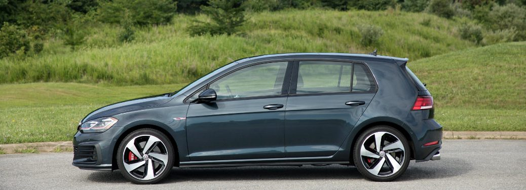 2018 Volkswagen Golf GTI parked on a country road