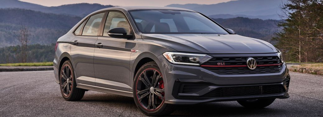 A 2019 Volkswagen Jetta GLI parked in a lot