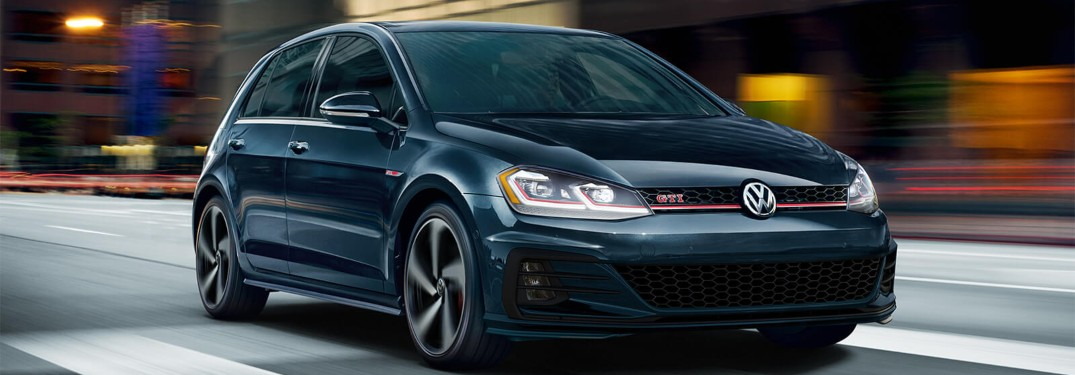 What optional packages are available for the 2019 Volkswagen Golf GTI?
