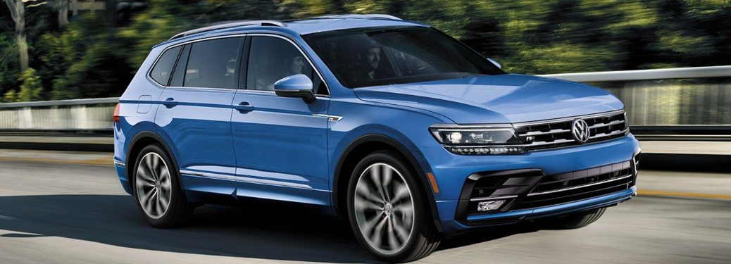 2020 Volkswagen Tiguan driving down a highway