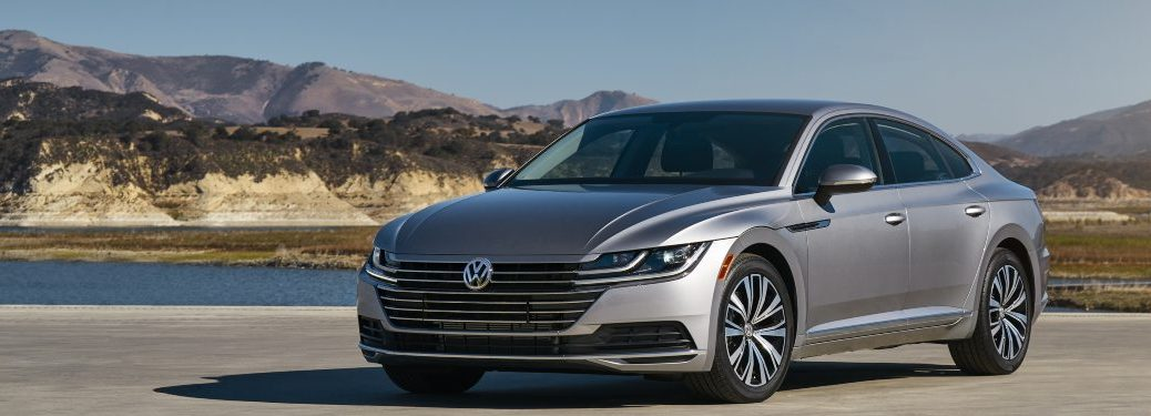 2019 Volkswagen Arteon parked in a parking lot by a river