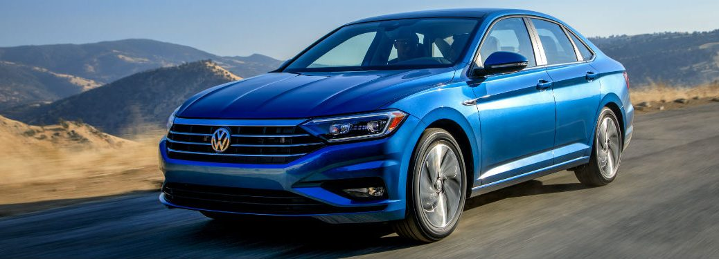 2019 VW Jetta front fascia driver side driving on street